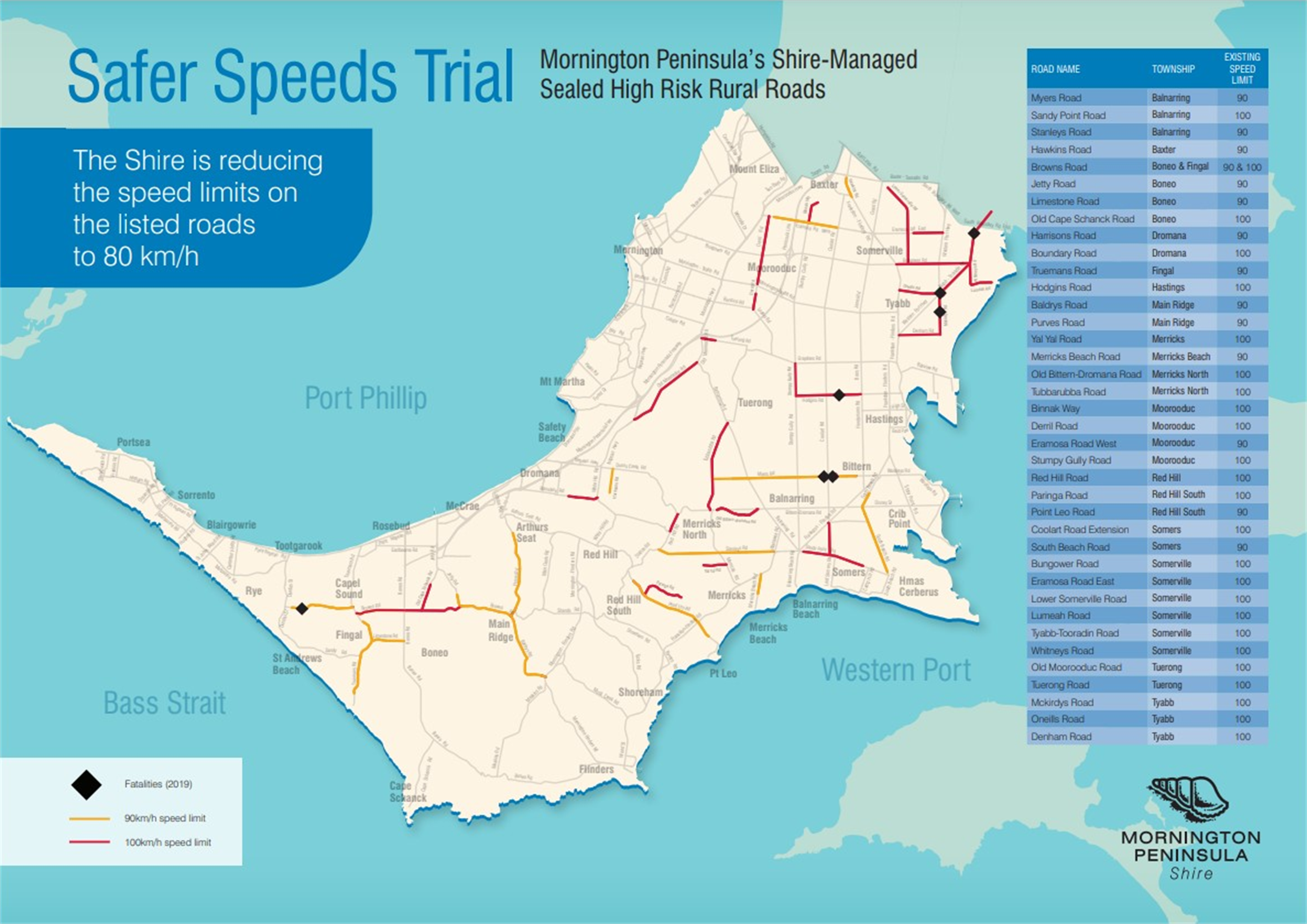 Safer Speeds Trial Map