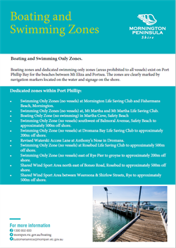 Boating and Swimming Zones flyer