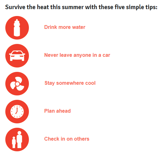 5 steps to survive the heat